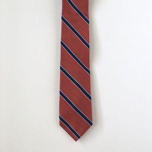 Tommy Hilfiger Red Blue Striped Silk Tie